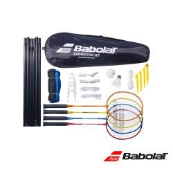 Babolat complete outdoor badmintonset (4 rackets, lijnen, palen en net)