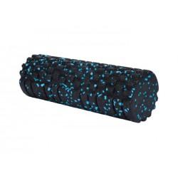 XQ MAX - foam roller structuur - 33cm - zwart/blauw