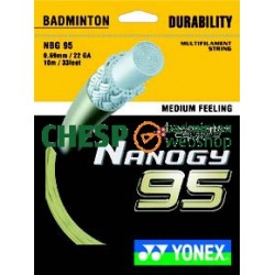 Nanogy 95 (goud) - CHESPbadmintonwebshop set
